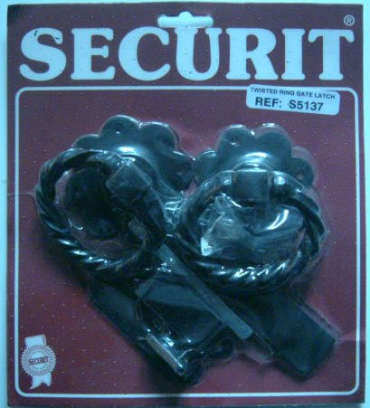 Twist Ring Gate Latch 150mm Black