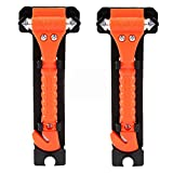 Autoark AZ-015 Car Safety Antiskid Hammer Seatbelt Cutter Emergency Class - Window Punch Breaker Auto Rescue Disaster Escape Life-Saving Hammer Tool,2 Pack