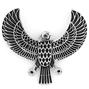 Egyptian Jewelry Silver Falcon Horus Pendant|Amazon.com