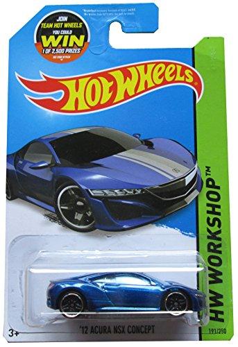 Hot Wheels, 2015 HW Workshop, '12 Acura NSX Concept [Metallic Blue] Die-Cast Vehicle #191/250