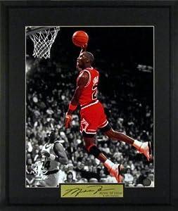 Michael Jordan Chicago Bulls Spotlight 16x20 Photograph (SGA Signature Series) Framed by Sports+Gallery+Authenticated