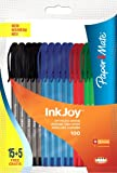 Papermate Inkjoy 100 CAP Stylos Bille Pointe Moyenne Assortiment Standard, Lot de 20