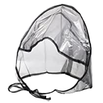 La Mart Rain Bonnet With Full Cut Visor & Netting - Black