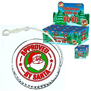 6 x Light Up Christmas Yo Yo's - ideal for parties or schools