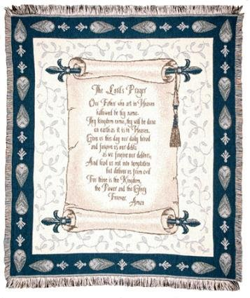 """The Lord'S Prayer"" Scroll Afghan Throw Blanket 50"" X 60"" front-914466"