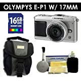 Olympus PEN E-P1 12.3 MP with 17mm lens (Silver) Value Kit