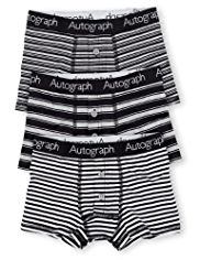 3 Pack Autograph Cotton Rich Block Striped Trunks