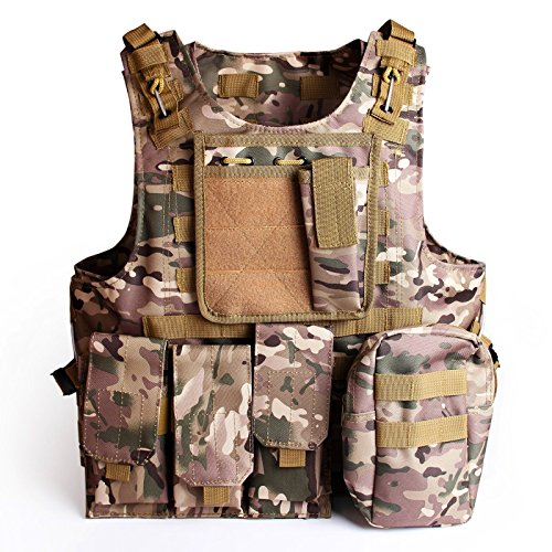 Tactical Molle Combat Vest Airsoft camouflage Police Fully a