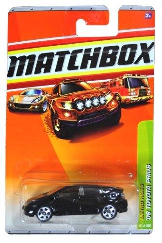 Mattel Year 2009 Matchbox Mbx Metro Rides Series 1:64 Scale Die Cast Car #26 - Black Full Hybrid Electric Mid-Size Hatchback '08 Toyota Prius (R4953)