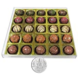 Chocholik - 25Pc Signature Chocolates With 5gm Pure Silver Coin - Gifts For Diwali