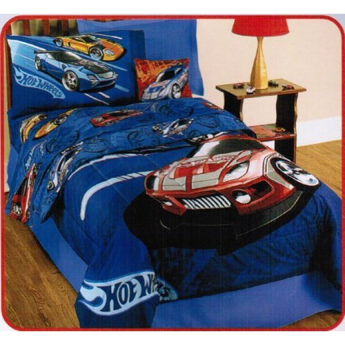 Delicieux Hot Wheels Race 4 Pc Twin Bedding Comforter And Sheets Set