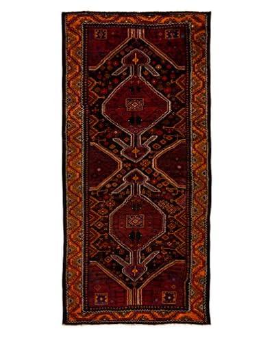 Darya Rugs One-of-a-Kind Tribal Rug, Purple, 4′ 3″ x 9′ 3″