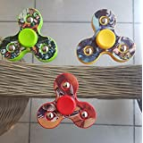 Spinner,Hand Spinner Tri Fidget Tri-Spinner Ball Focus Toy For Kids/Adult Black By Rkaddiction (PRINT MAY VARY)