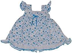 Be BeBo Girl's cotton Regular Fit Dress (576, Blue, 0-3 months)