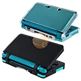 Clear Crystal Case + Black Soft Silicone Skin for Nintendo 3DS