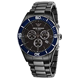 Emporio Armani Men's AR1429 Ceramic Black Chrnongraph Dial Watch