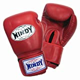 WINDY ボクシンググローブ 本革製 12オンス レッド