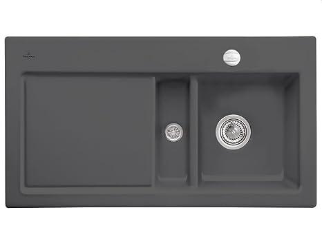 Villeroy & Boch Subway 50Graphite Ceramic Sink Grey Kitchen Sink Cover