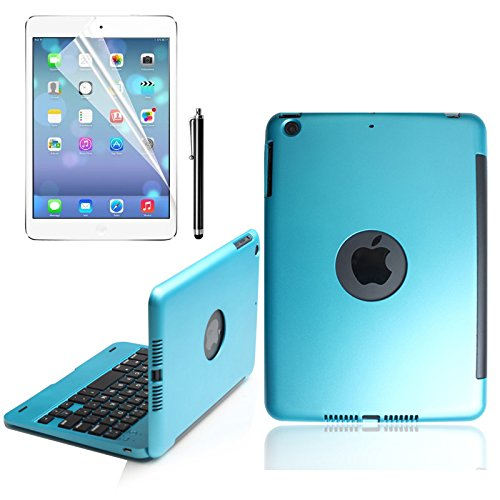 Great Deal! KVAGO iPad mini 3 Case with Keyboard Folio Cover Alumium Alloy Hard Plastic Shell Carryi...