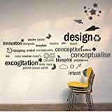 Letterning Word Text Quote Wall Sticker Decor Decal Vinyl Art Craft