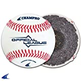 Champro C Grade CBB-200 Official League Cushion Cork Core Cover Baseballs - Available by the Dozen  (1 Dozen)