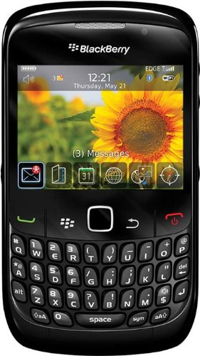 Blackberry 8520 Curve Unlocked Phone with 2 MP Digital Camera, QWERTY Keyboard, Trackpad Navigation, Bluetooth Enabled with Stereo Profile – US Warranty – Black