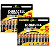 Duracell MN1500 Plus Power AA Size Batteries--Pack of 40