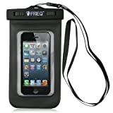 FRIEQ Universal Waterproof Case for Apple iPhone 5s, 5, Galaxy S5, S4 S3, HTC One X, Galaxy Note 3, 2 - IPX8 Certified to 100 Feet