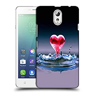 Snoogg Red Heart Designer Protective Back Case Cover For LENOVO P1