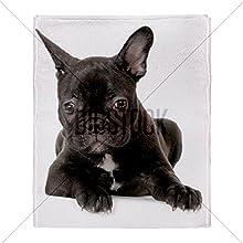 CafePress French Bulldog Throw Blanket - Standard Multi-color