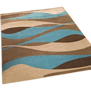 3 Sizes Available - Sincerity Modern - Contour Blue - Good Quality Rug by Flair Rugs