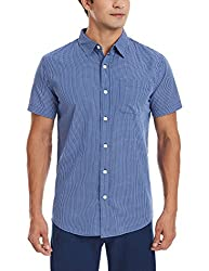 Fox Men's Casual Shirt (135434100040_135434_Large_Navy)