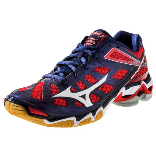 Mizuno Men's Wave Lightning RX3 Volleyball Shoe,Navy/Red,10.5 M US