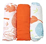 Tots by Smart Correpasillos 170�-�103�3pp Bamboo�-�swaddles, 100% bamb� Ray�n, 120�x 120�cm), color naranja