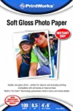 Printworks Soft Gloss Photo Paper, 8.5 Mil, Inkjet, 100 Sheets, 4 x 6 Inch (00619)