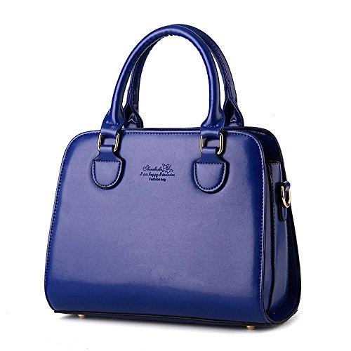 Koson-Man-Borsa Vintage da donna, borsetta per impugnatura, Blu (Blu) - KMUKHB254