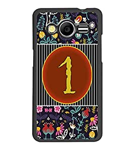 PrintDhaba Numerology Number 1 D-3087 Back Case Cover for SAMSUNG GALAXY CORE 2 G355H (Multi-Coloured)