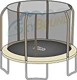 Bounce Pro / Sports Power Round Net fits 14ft Trampolines that use 6 Straight Curved Poles with Top Ring (NET ONLY - POLES & TRAMPOLINE NOT INCLUDED)