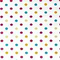 """Wachstuch Tischdecke Wachstischdecke Gartentischdecke, Abwaschbar Meterware, Länge wählbar, """"Konfetti"""" Bunte kleine Punkte auf weißem Untergrund (662-00) von MODERNO - Gartenmöbel von Du und Dein Garten"""