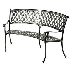 amalfi gartenbank aluminiumguss metall. Black Bedroom Furniture Sets. Home Design Ideas