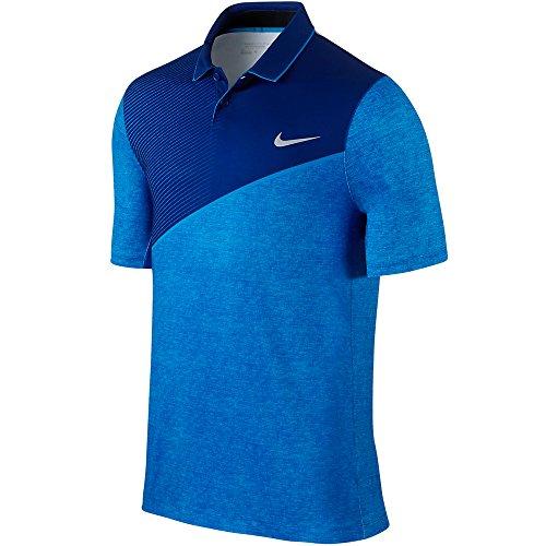 Nike Golf Men's Momentum 26 Polo Deep Royal Blue/Photo Blue/Wolf Grey Polo Shirt MD