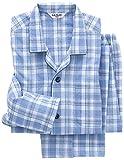 (グンゼ)GUNZE 紳士パジャマ(肩ももW保温)長袖長パンツ(ソフトキルト/発熱ニットガーゼ) SG4085 59 ブルー M