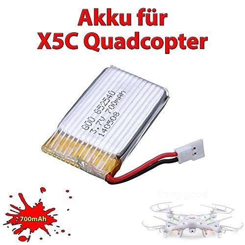 3x Upgrade 700mAh LiPo inkl. Ladegerät für X5C X5SC X5SW - 2