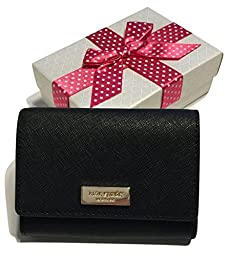 Kate Spade Newbury Lane Large Holly Business Card Case Holder WLRU2350 with Gift Box (Black)