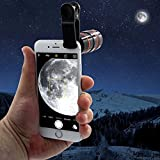 TDC Cell Phone Camera Lens Universal Mobile Phone 8 times Clip-on 8x Optical Zoom HD Telescope Camera Lens for iphone 8/7/6s/6/6 Plus/6s Plus Samsung Galaxy S8/S8 Plus/S7/S7e/S6/S5/Note5