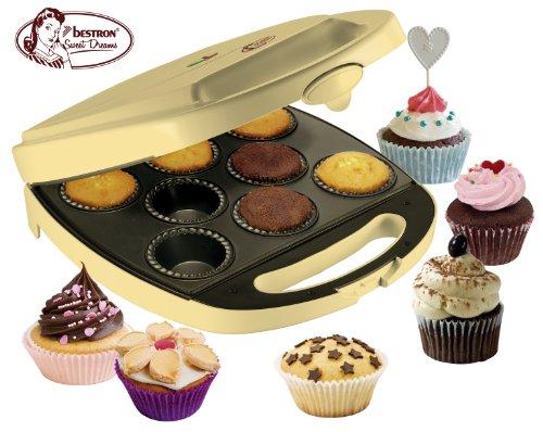 Bestron DKP2828 Machine à Cupcake Petits Gâteaux à la Mode 1400 W