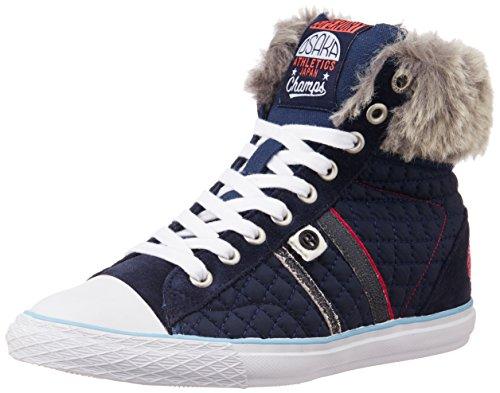 Superdry per martello alta quilt-sneaker Hi Top, Scarpe da ginnastica, colore: rosa, Rosa (rosa), 38.5