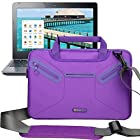 Evecase Multi-functional Neoprene Messenger Case Tote Bag for Acer C720P / C720 / C710 / C7 11.6-Inch Chromebook, Aspire P3, Aspire V5, Aspire S7 and more - Purple