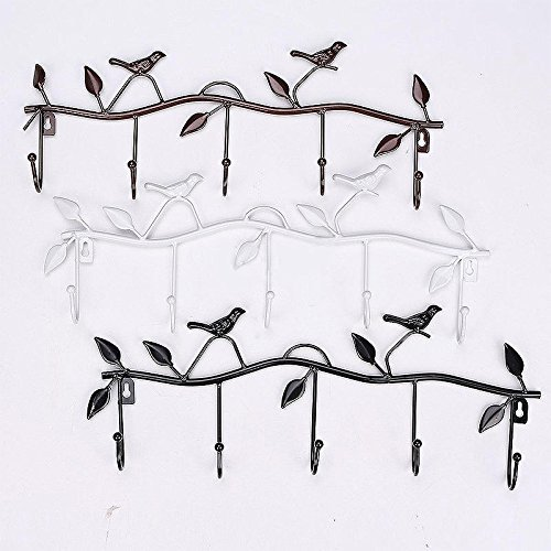 Smilingtree,5 Hooks Vintage Bird Style Hanger Decor Wall Home Bathroom Kitchen Coat/Hat/Bag,hangers kitchen (Bronze) (Garage Hanger No Slip compare prices)