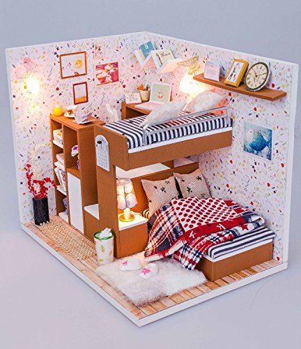 Cover My Furniture Throughout Wood Dollhouse Miniature Kit Diy Doll House Room With Furniture Cover Toy Artwork Gift My Friends